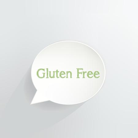 Gluten Free Speech Bubble vector illustration design.