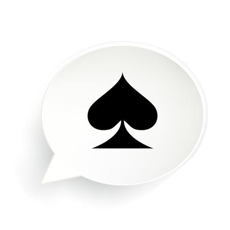 Card Suit Spades Speech Bubble