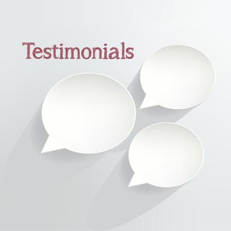 Testimonials Speech Bubbles Illusztráció