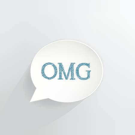 OMG text in a Speech Bubble vector illustration Ilustrace