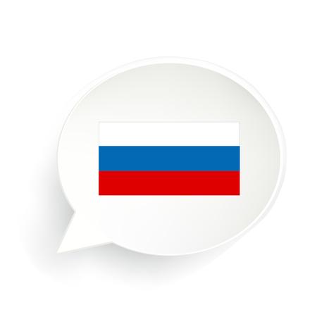 Russian Flag Speech Bubble