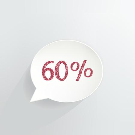 Sixty Percent Off Speech Bubble