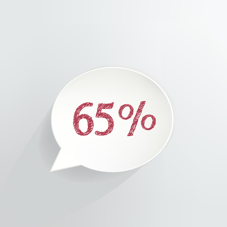 Sixty Five Percent Off Speech Bubble Ilustrace