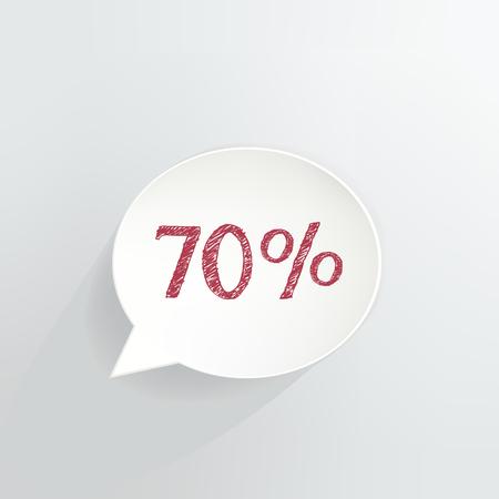 Seventy Percent Off Speech Bubble
