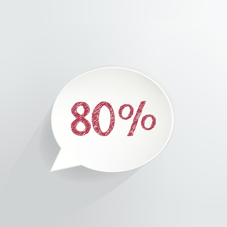 Eighty Percent Off Speech Bubble