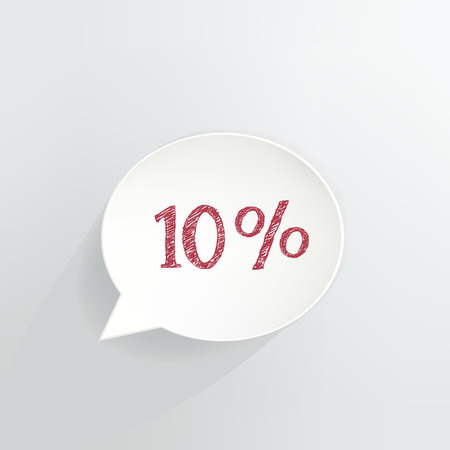 Ten Percent Off Speech Bubble Ilustrace