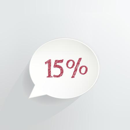 Fifteen Percent Off Speech Bubble