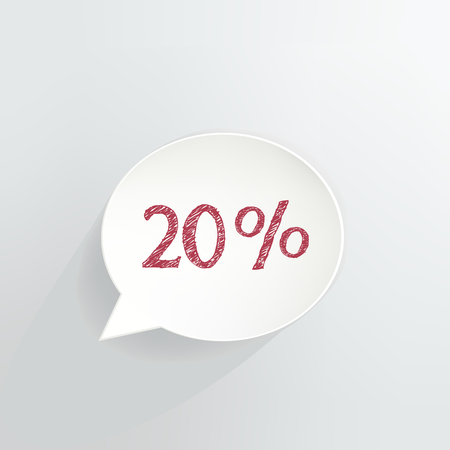 Twenty Percent Off Speech Bubble Ilustrace