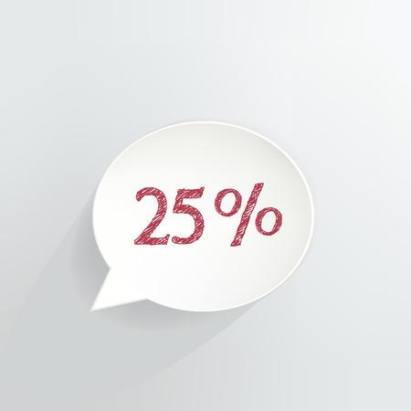 Twenty Five Percent Off Speech Bubble