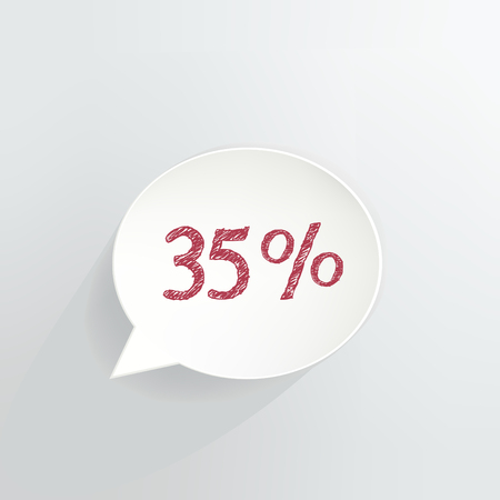 Thirty Five Percent Off Speech Bubble Ilustrace