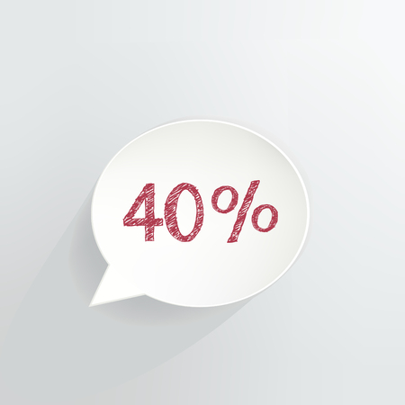 Forty Percent Off Speech Bubble