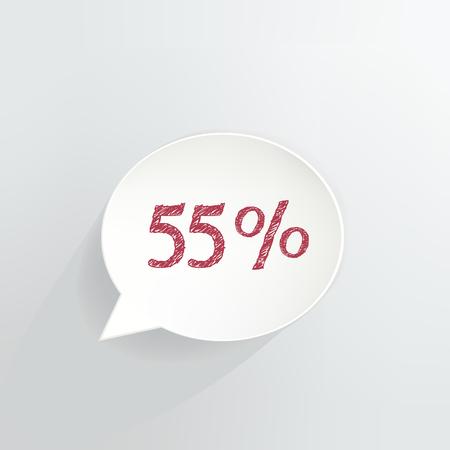 Fifty Five Percent Off Speech Bubble