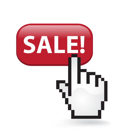 Sale Button Cursor Hand