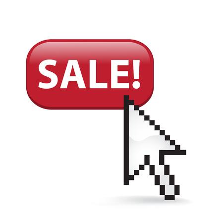 Sale Button Cursor Arrow Ilustrace