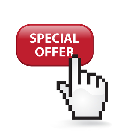 Special Offer Button Cursor Hand Ilustrace