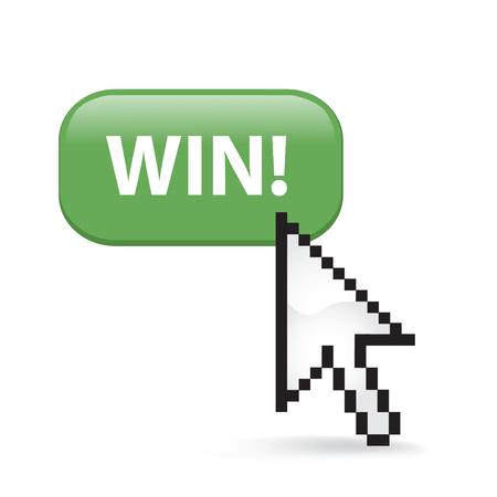 Win button cursor arrow.