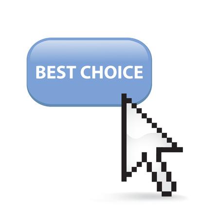 Best choice button cursor arrow.
