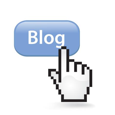 Blog button cursor hand.