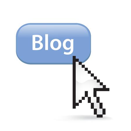 Blog button cursor arrow. Ilustrace