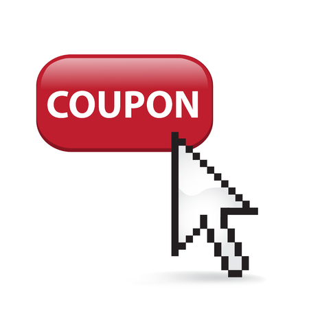 Coupon button cursor arrow.