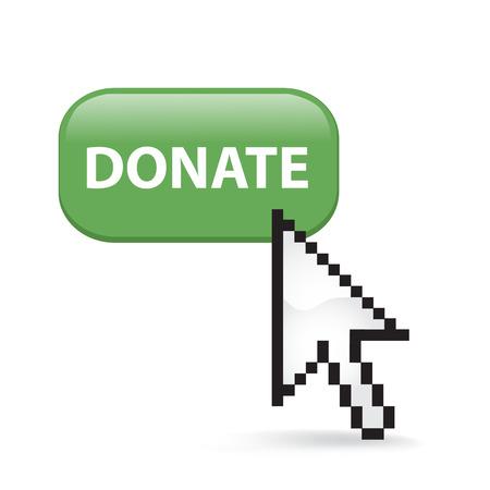 Donate Button Cursor Arrow
