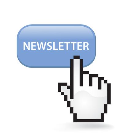 Newsletter button cursor hand.
