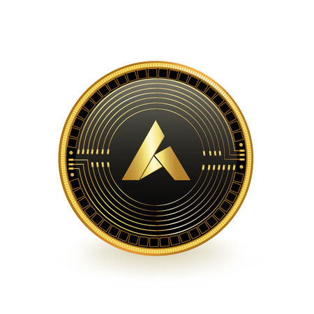 Ardor Cryptocurrency Coin Isolated