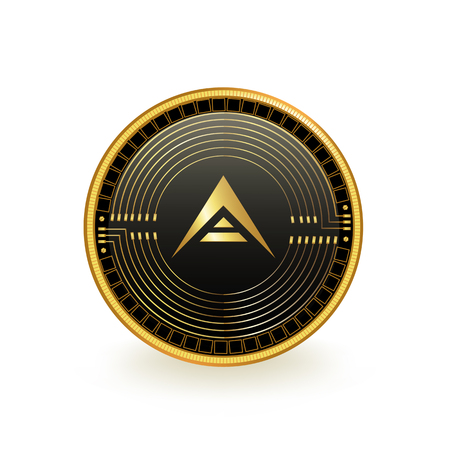 Ark Cryptocurrency Coin Isolated Reklamní fotografie - 103186010