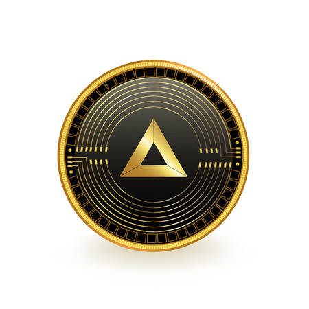 Basic Attention Token Cryptocurrency Coin Isolated