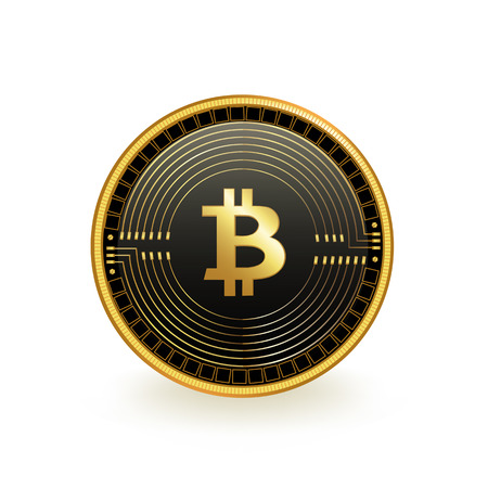Bitcoin Cryptocurrency Coin Isolated Reklamní fotografie - 103297940