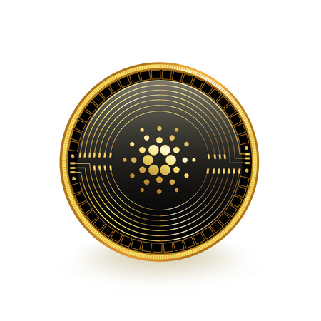 Cardano Cryptocurrency Coin Isolated Illustration