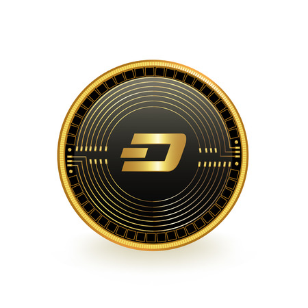 Dash Cryptocurrency Coin Isolated 向量圖像