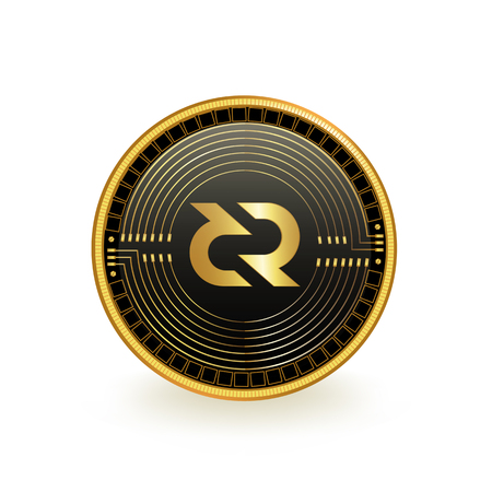 DeCred Cryptocurrency Coin Isolated