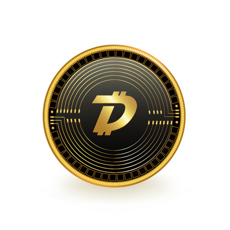 Digibyte Cryptocurrency Coin Isolated