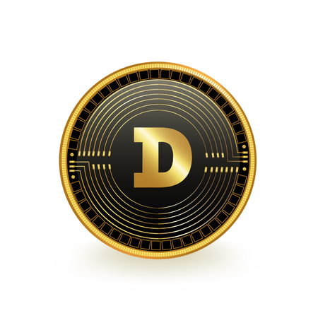 Dogecoin Cryptocurrency Coin Isolated