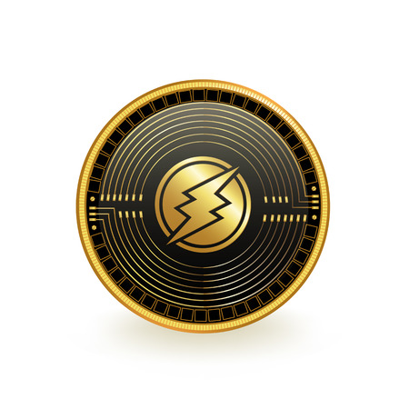 Electroneum Cryptocurrency Coin Isolated 向量圖像