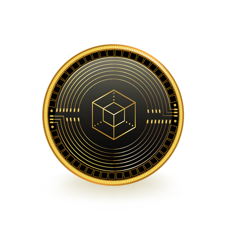 Enigma Cryptocurrency Coin Isolated