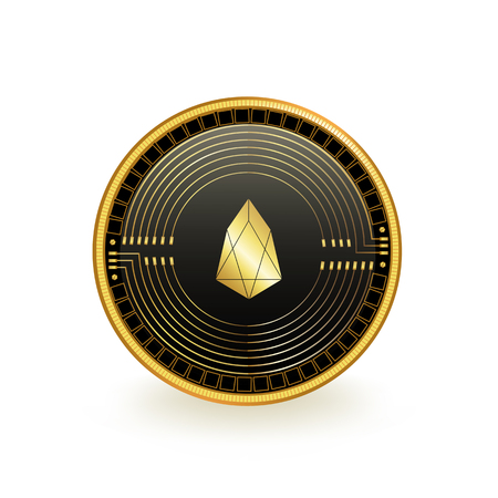 Eos Cryptocurrency Coin Isolated 向量圖像