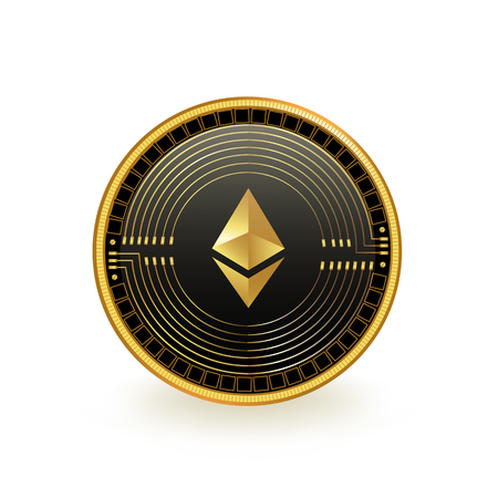 Ethereum Cryptocurrency Coin Isolated 向量圖像