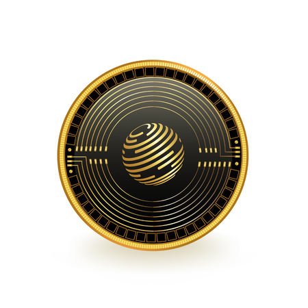 Factom Cryptocurrency Coin Isolated