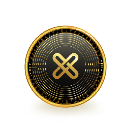 GXChain Cryptocurrency Coin Isolated 向量圖像