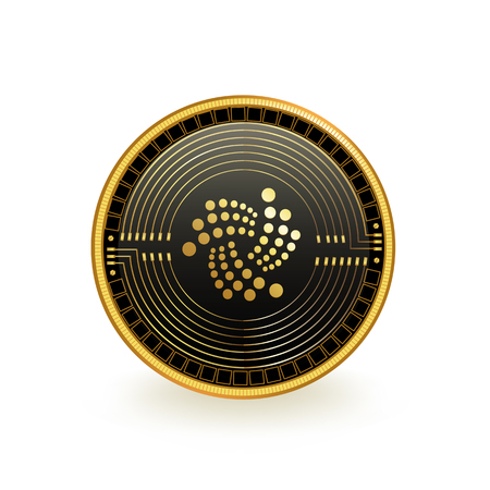 Iota Cryptocurrency Coin Isolated