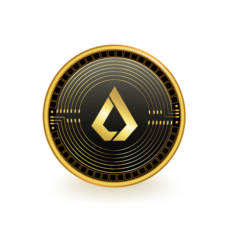 Lisk Cryptocurrency Coin Isolated