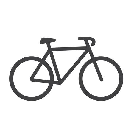 Bike icon. Bike Vector isolated on white background. Flat vector illustration.