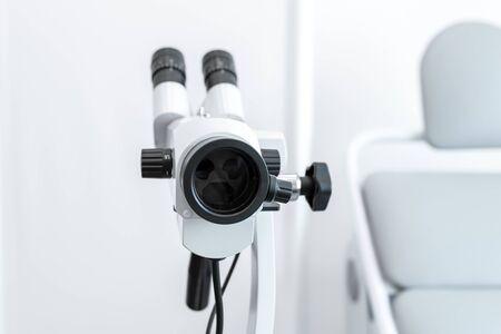 Kalposkop in detail. Professional equipment gynecologist in clinic.