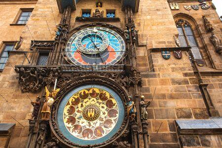 Famous Prague chimes. Prague Astronomical Clock. Фото со стока