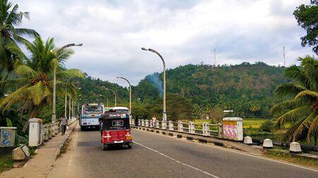 Typical city street in Sri Lanka. Editorial