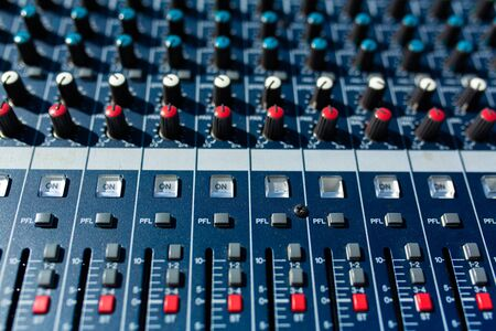 Mixer. Sound equipment for large gatherings, concerts, parties