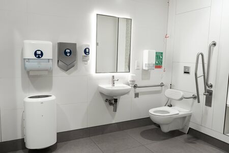 Restroom for people with disabilities in a modern country.
