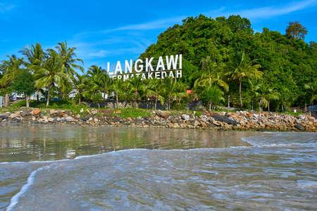 Beachline of Cenang beach Pantai in Langkawi island. Langkawi, Malaysia - 06.20. 新闻类图片